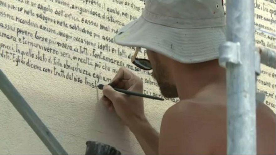 """""""Fontamara"""" sul muro, artista omaggia Silone"""