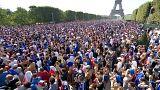 Celebraciones en París por el campeonato del mundo