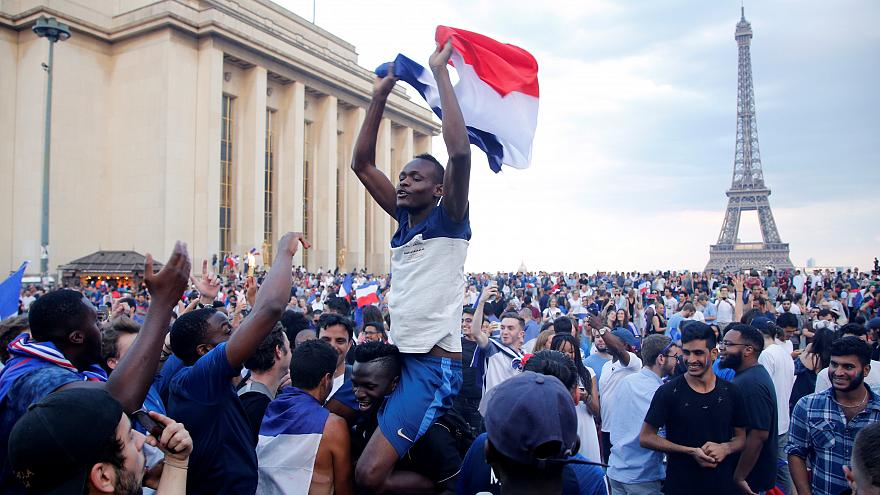 شادمانی مردم فرانسه از قهرمانی تیم ملیشان در جامجهانی روسیه
