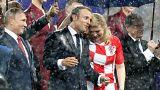 Összeborult a francia és a horvát elnök a VB hevében