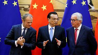 Donald Tusk, Li Keqiang and Jean-Claude Juncker are among those meeting