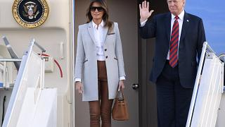 The US President has been touring Europe with the First Lady