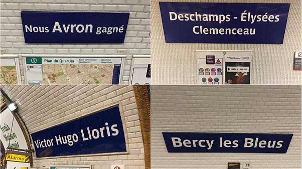 Şampiyonluğun ardından Paris'te durak isimleri değişti