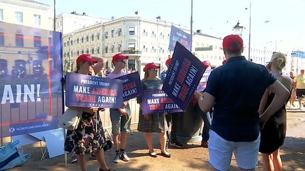 protesto, Trump, Putin, Helsinki Zirvesi