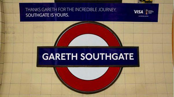 مترو لندن يضع اسم المدرب الإنكليزي ساوثغيت على إحدى المحطات