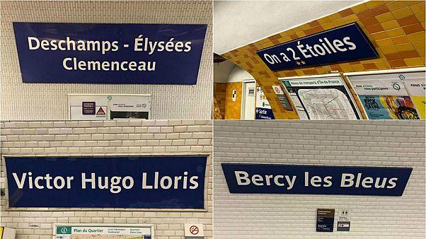 مترو باريس يغير أسماء محطاته احتفالا بفوز المنتخب الفرنسي بكأس العالم