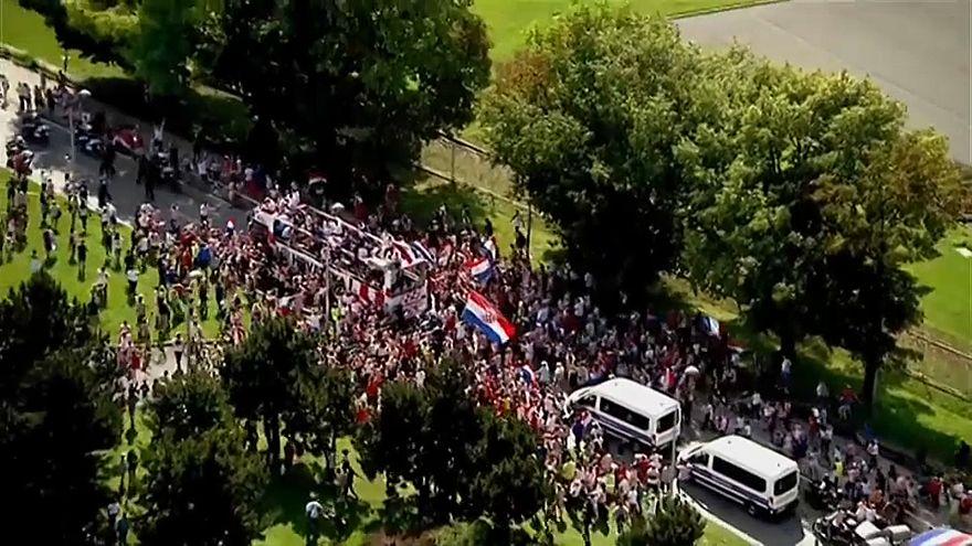 Los 'héroes croatas' llegan a Zagreb