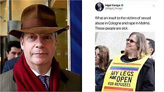 Farage tuitea una foto falsa atacando a activistas pro-refugiados