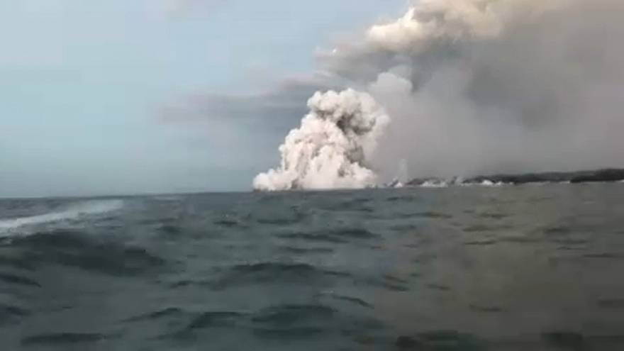 Una veintena de heridos por una bomba de lava del Kilauea