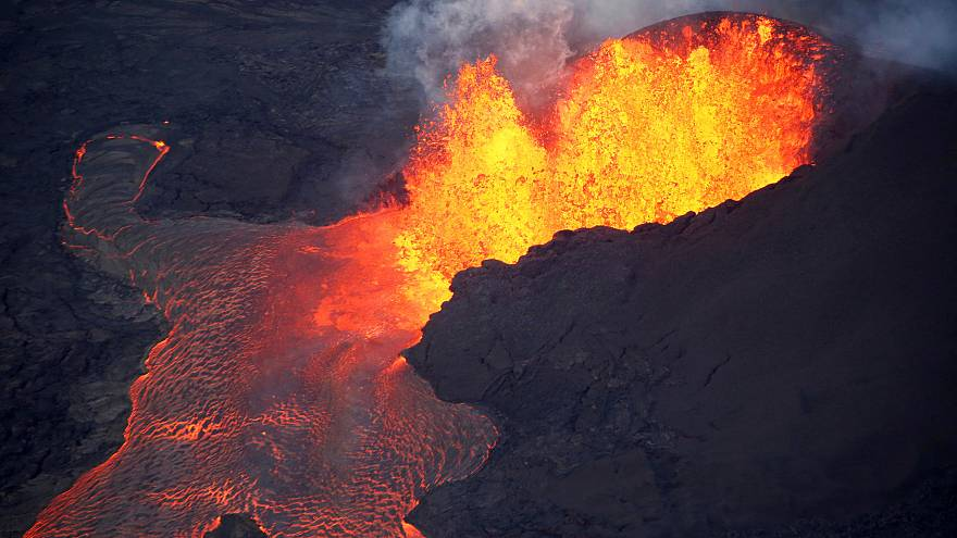 Der Vulkan Kulauea Anfang Juni
