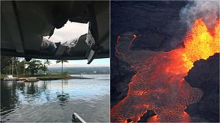 Hot lava smashes through roof of tourist boat 'leaving 23 injured'