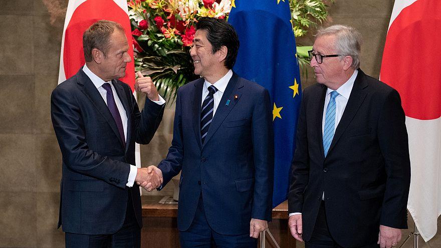 Aláírta a szabadkereskedelmi egyezményt az Európai Unió és Japán