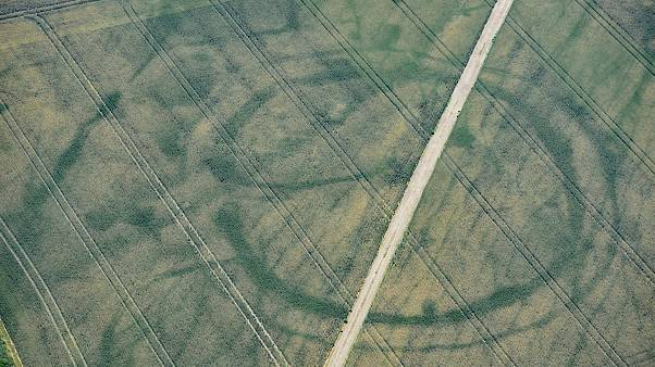 Cropmarks of a large prehistoric enclosure in the Vale of Glamorgan