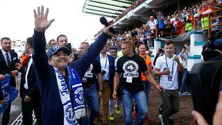 Maradona assume presidência de clube bielorrusso
