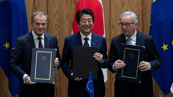 توقيع اتفاق تاريخي للتجارة الحرة بين الاتحاد الأوروبي واليابان