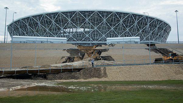 تخریب یکی از استادیوم های تازه ساز جام جهانی روسیه