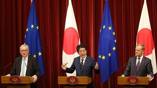 امضای توافقنامه تجارت آزاد میان ژاپن و اتحادیه اروپا