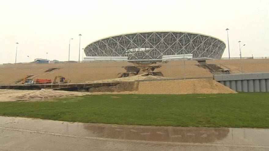 Watch: Heavy rain batters newly-built World Cup stadium