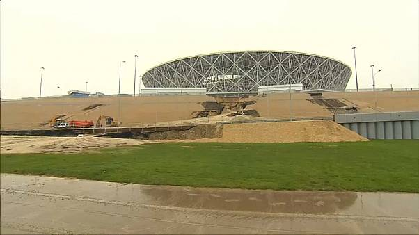 Estádio do Mundial danificado por chuvas fortes