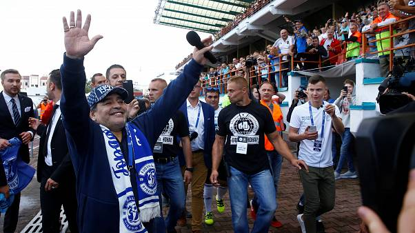 Maradona débarque en Biélorussie
