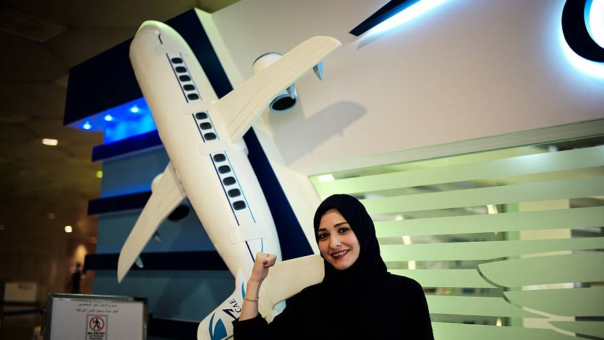 Suudi Arabisitan'daki Oxford Havacılık Akamemisi'ne başvuran Dalia Yashar