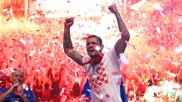 Hırvatistan'da yüz binler milli takımı coşkuyla karşıladı