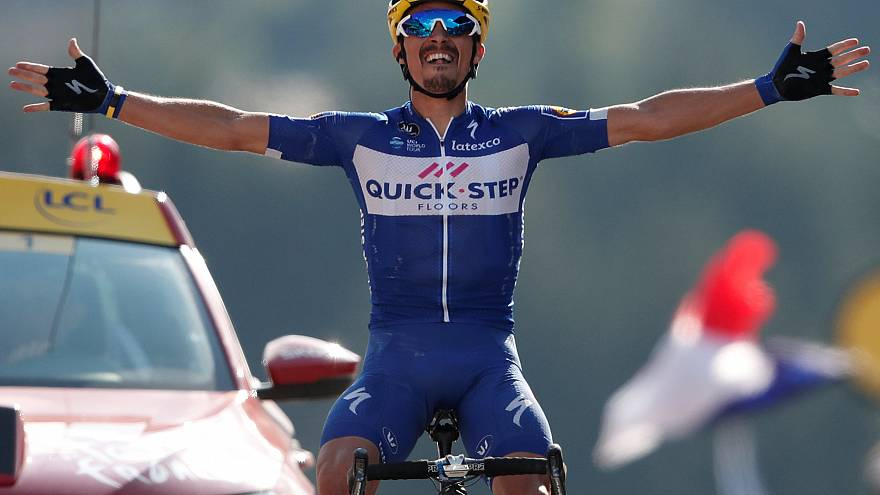 Alaphilippe claims victory in stage 10 as Tour de France enters the Alps