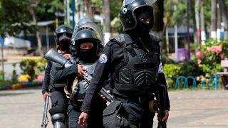 Des forces de l'ordre au Nicaragua