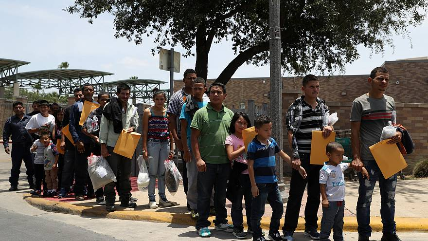Undocumented immigrant families in McAllen, Texas, U.S., July 4, 2018