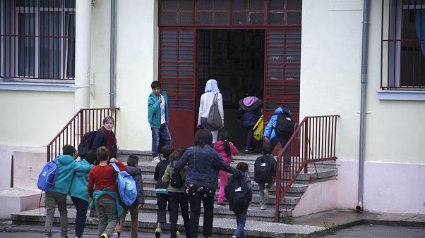 Παιδιά μεταναστών σε σχολείο στη Θεσσαλονίκη - φωτογραφία αρχείου