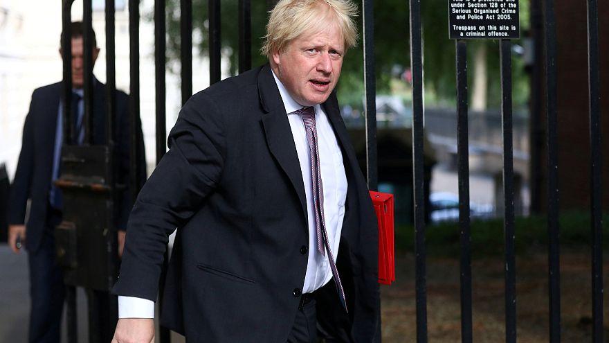 Boris Jonhson quittant 10 Downing Street