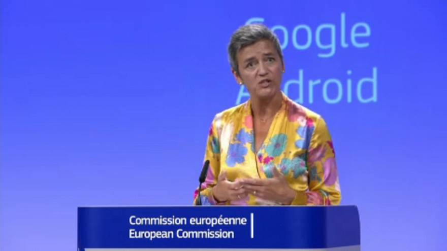 EU slaps record €4.3bn fine on Google