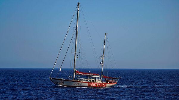 Embarcação da Open Arms rumo às Baleares