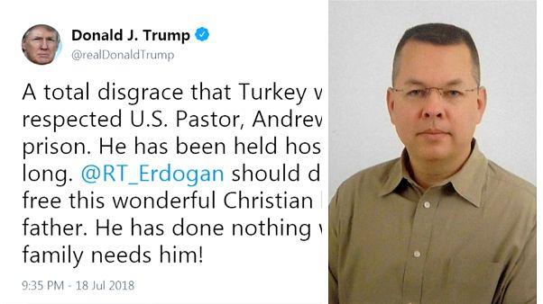 Dışişleri Bakanlığı'ndan Trump'ın Rahip Brunson çağrısına yanıt: Türkiye bir hukuk devleti