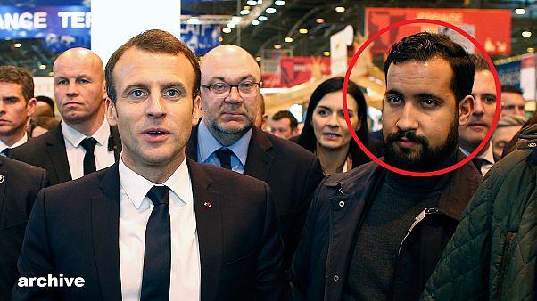 Alexandre Benalla et Emmanuel Macron - Paris, Salon de l'agriculture