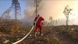 Erdőtüzek pusztítanak Svédországban