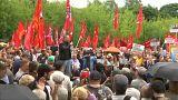 A nyugdíjreform ellen tüntettek Moszkvában