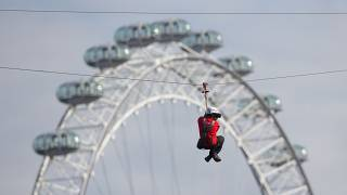 London hosts the world's first augmented reality zip line