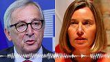 ¿Una broma del Kremlin? Juncker y Mogherini caen en una trampa rusa
