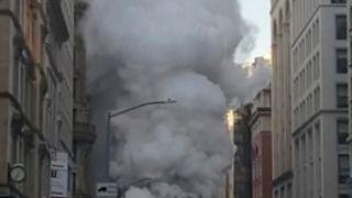 شاهد:انفجار أنبوب للبخار في مانهاتن