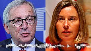 """Komiker tricksten Juncker und Mogherini in """"Gespräch mit Armeniens Ministerpräsident"""""""