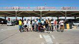 engelli bisikletçi sporcular, kapıkulu gümrük kapısı