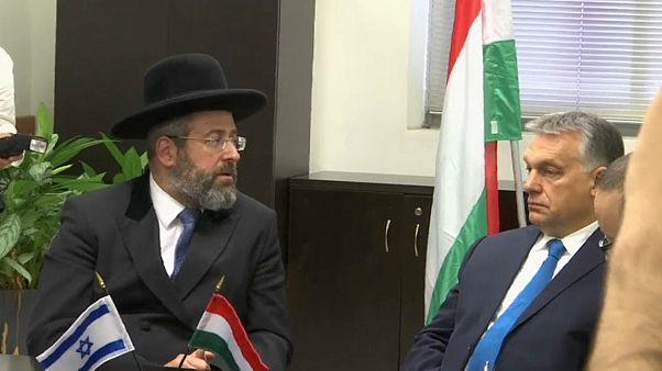 """Viktor Orban, das """"Bollwerk gegen Antisemitismus"""", in Israel"""