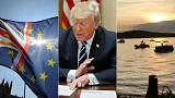 Live updates: EU ponders Brexit deal, Trump invites Putin to US, deaths after 'duck boat' capsizes