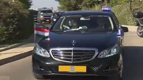 Orban termina visita polémica a Israel