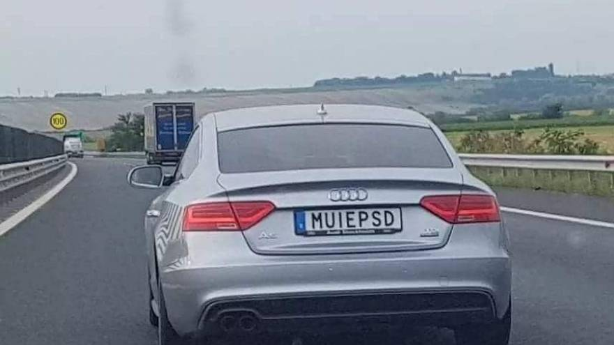 The controversial numberplate