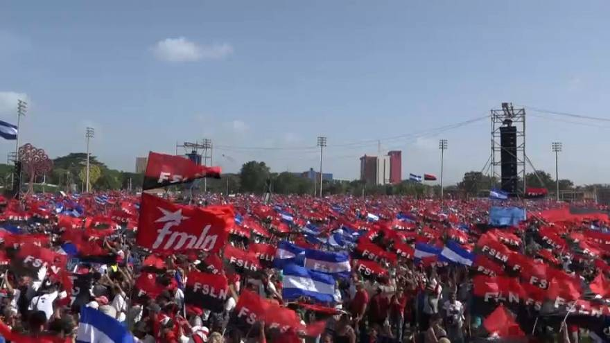 Thousands rally in Nicaragua