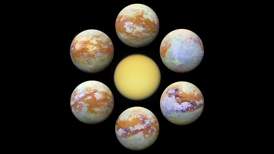 nasa, titan uydusu yüzeyi, satürn gezegeni