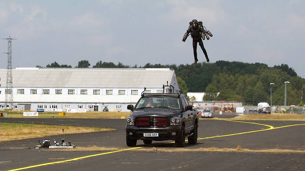 Real-life 'Iron Man' launches at airshow, days after £340k