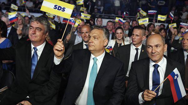 Orbán Viktor Janez Jansa pártjának rendezvényén májusban